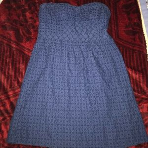 Strapless Navy blue American E. Outfitters dress